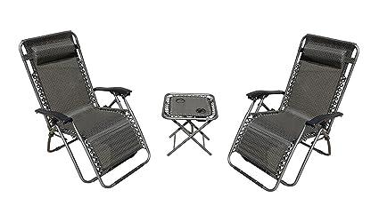 Akari furniture Akari 10a Akari Decor 3pcs Set Deluxe 2pack Furniture Zero Gravity Chairs Outdoor Indoor Portable Lounge Amazoncom Amazoncom Akari Decor 3pcs Set Deluxe 2pack Furniture Zero