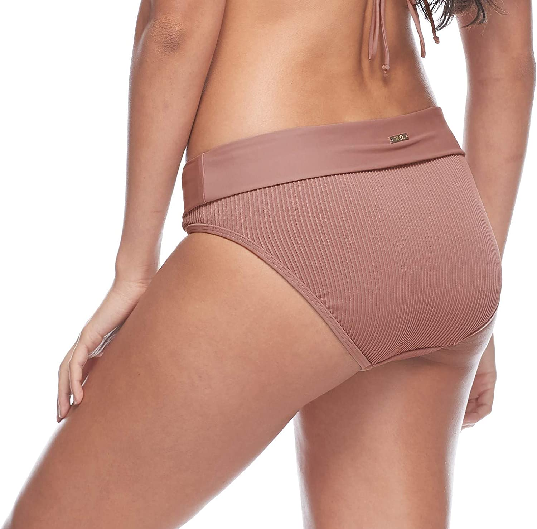 Esky Womens Mid Waist Full Coverage Bikini Bottom Swimsuit Bikini Bottoms