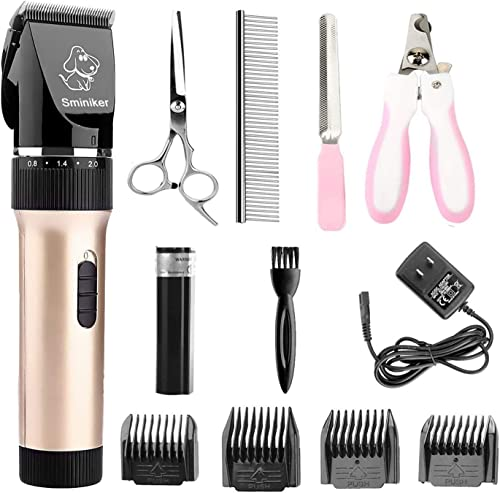 Sminiker-Professional-Low-Noise-Rechargeable-Cordless-Cat-and-Dog-Clippers