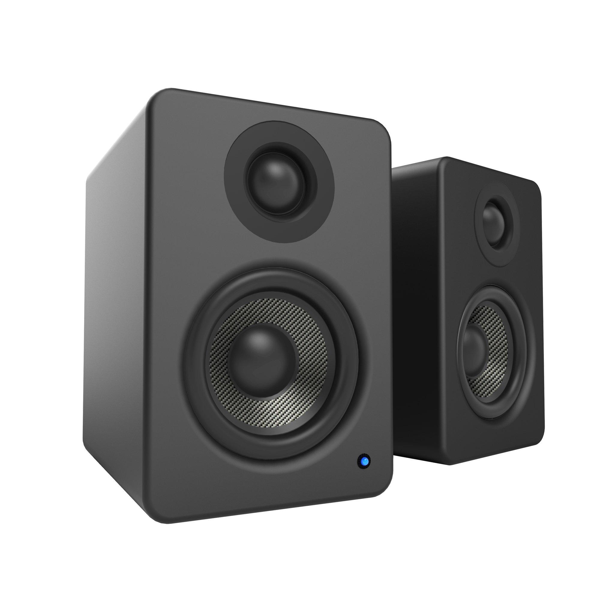Kanto YU2 Powered Desktop Speakers – 3'' Composite Driver 3/4'' Silk Dome Tweeter – Matte Black