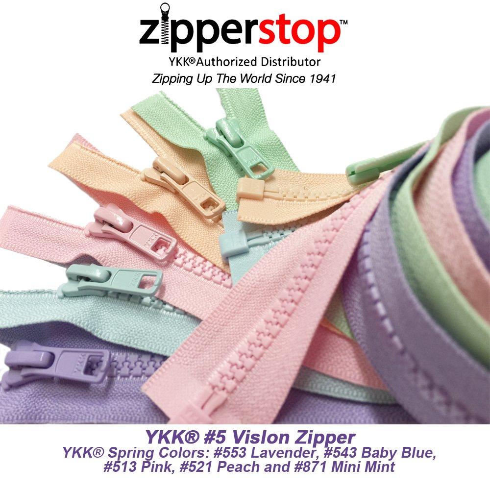 ZipperStop YKK® #5 Molded Plastic Separating ~ Lavender 553 ~ Jacket Zipper
