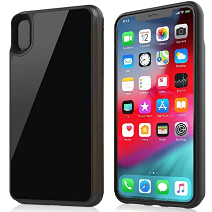on sale 0e118 4bf9c Battery Case for iPhone Xs MAX, Qi Wireless Charging Case 6000 mAh Extended  Charging Case Rechargeable Charger Case Protective Battery Pack Glass Back  ...