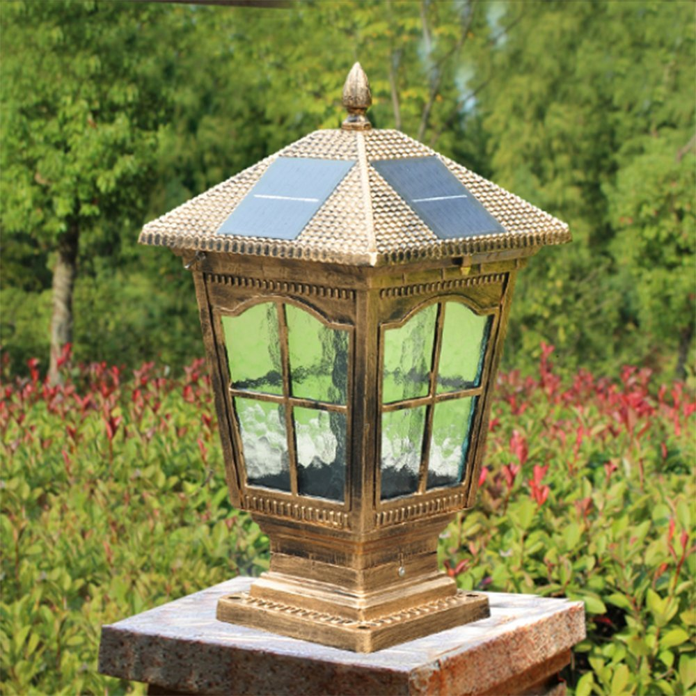 WWJ/ Fence post lights/wall lights/Villa garden light/gate home waterproof lamp/solar pillar lamp