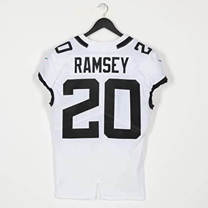 f72f8292 Jalen Ramsey Jacksonville Jaguars Game-Used White #20 Jersey vs ...