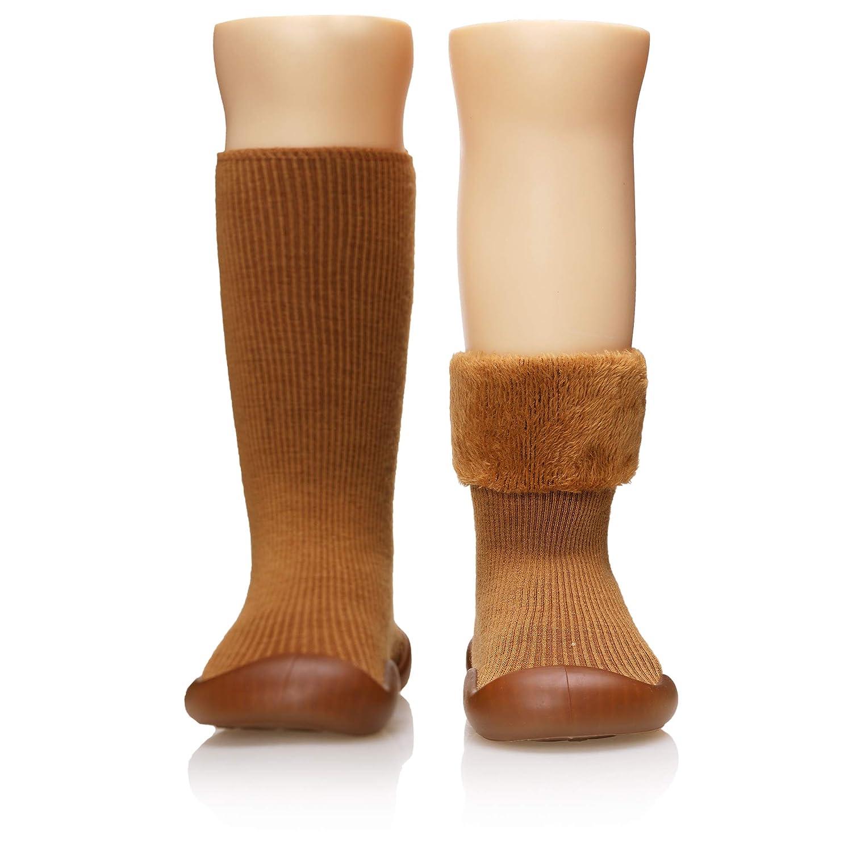 Baby Boys Girls Toddlers Moccasins Fuzzy Slipper Non-Skid Indoor Floor Christmas Animals Childrens Winter Warm Shoe Socks