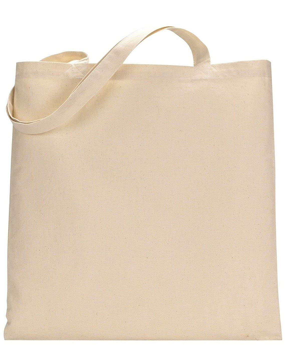 UltraClub 8860 Canvas Tote Natural One Size