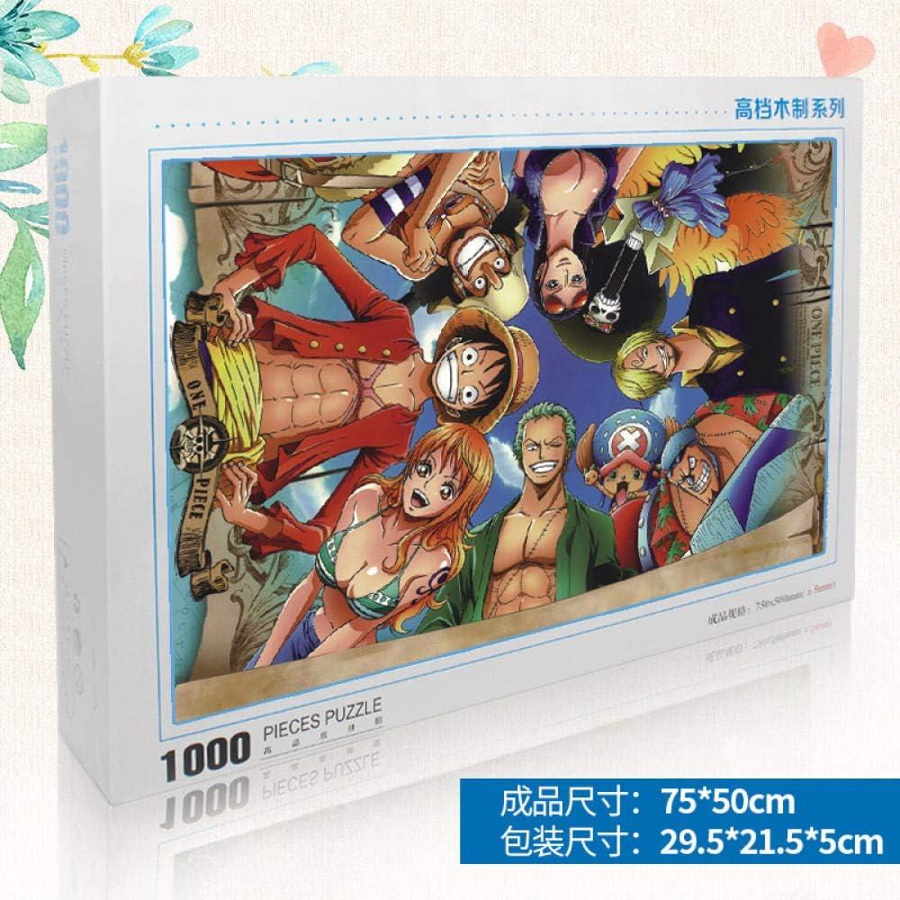 LZLM Jigsaw Puzzle Regalo Puzzle de 1000 Piezas de Madera para niños Adultos de descompresión puzzle-1000 Piezas One Piece 029