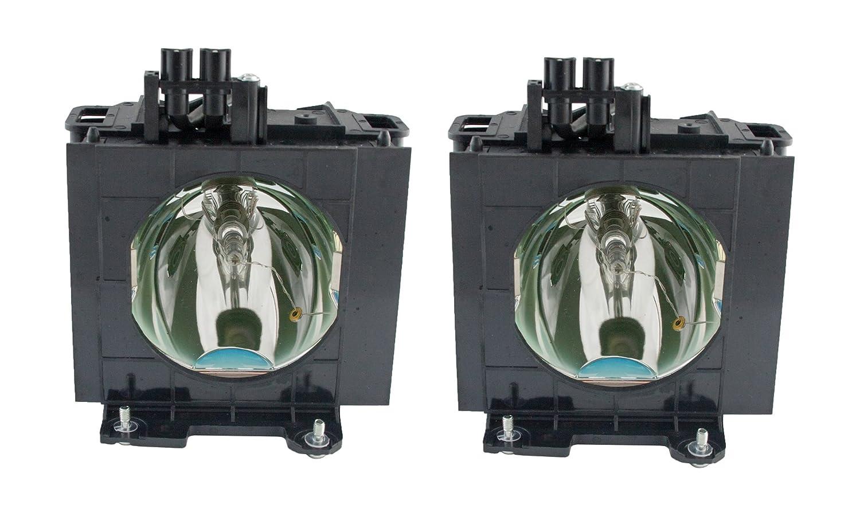 Rich Lighting プロジェクター 交換用 ランプ ET-LAD57 ET-LAD57W (2灯セット) PANASONIC パナソニック PT-D5700, PT-DW5100 対応【180日保証】   B074135BT8