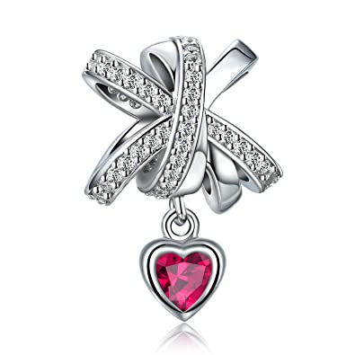 7dd8a2df0 Forever Queen Fit Charms Bracelet 100% 925 Sterling Silver Bowknot Charm  with CZ Heart Charm
