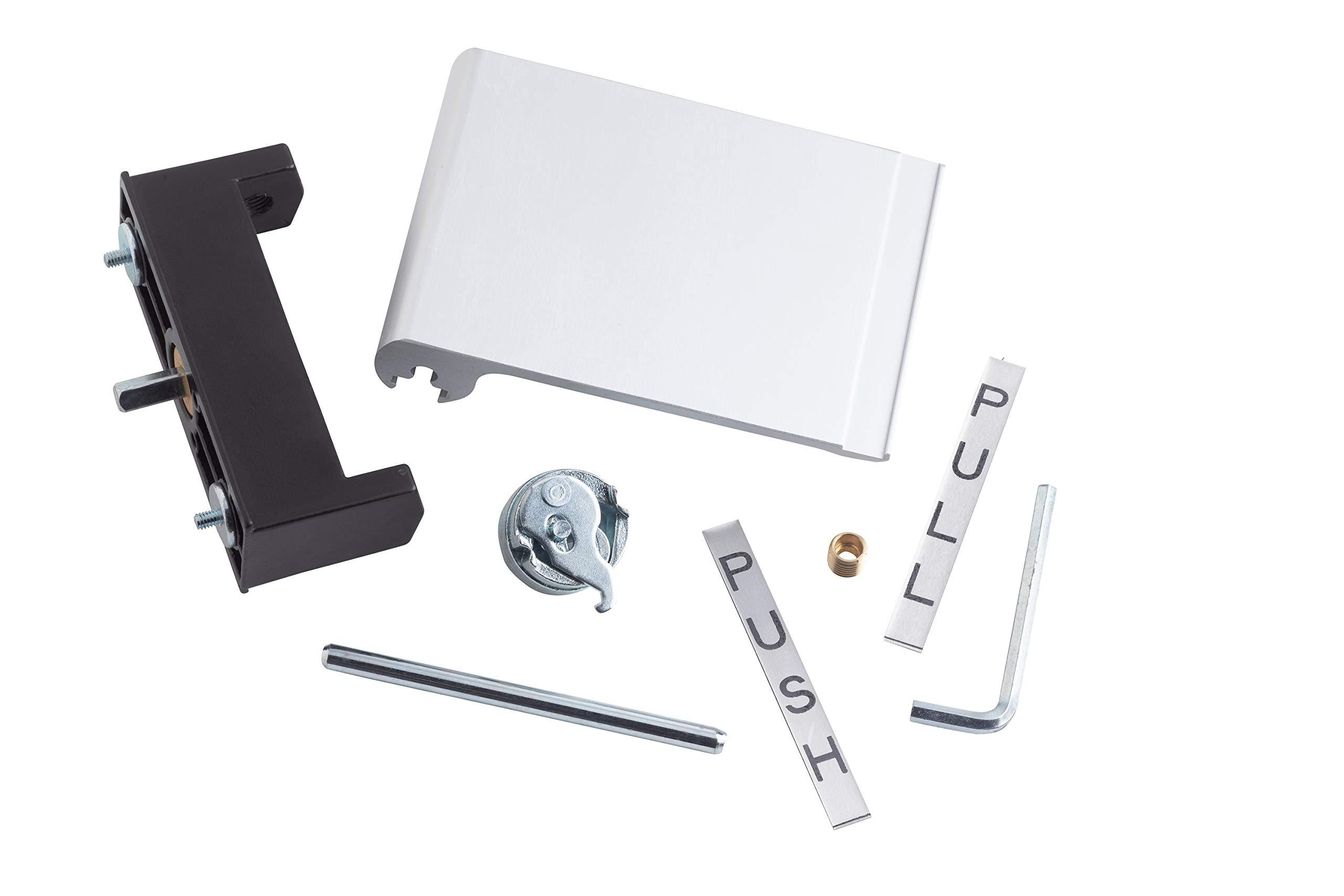 Satin Nickel Global Door Controls CPS3535-US15-M Square Corner Imperial USA X 3.5 Full Mortise Spring Door Hinge-Set of 3 3.5 x 3.5 3 Piece