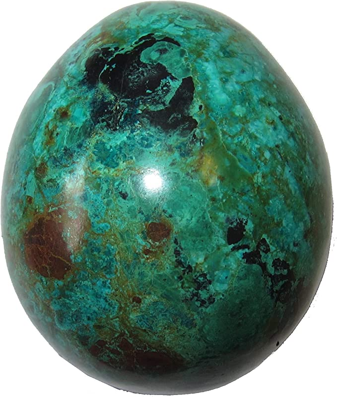 Satin Crystals ite Egg 3.3 Collectible Clean Green Sheen Healing Feng Shui Energy Stone C06