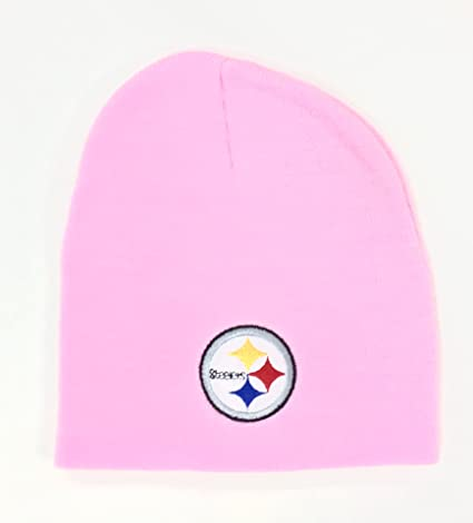 715766f8 Amazon.com : NFL Pittsburgh Steelers Womens Pink Cuffless Knit ...