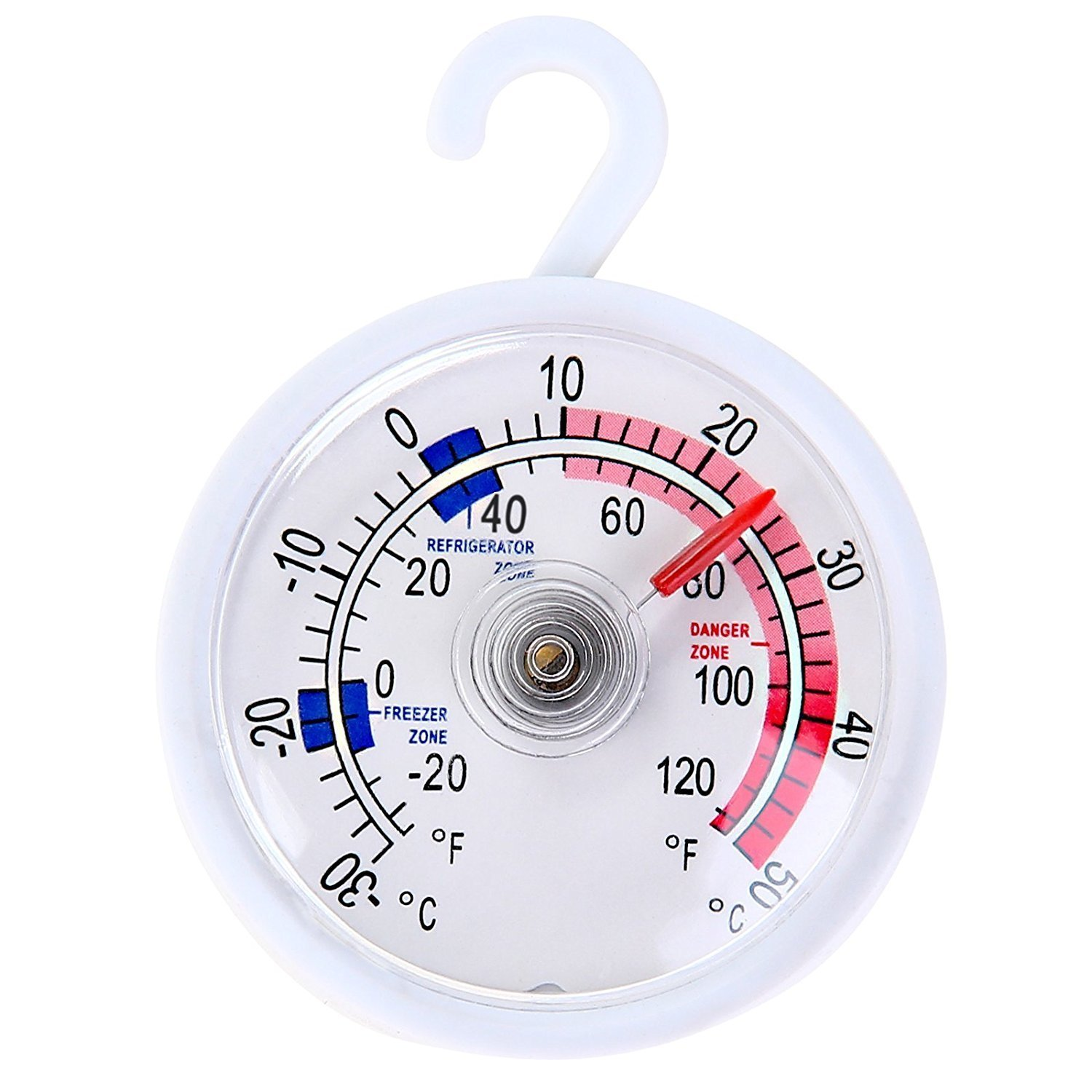 CellDeal Dial Fridge/Freezer Thermometer/Kitchen Appliance - With Hanging Hook