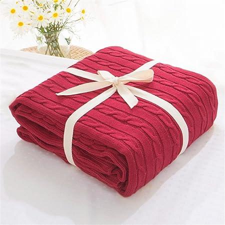 ADXJ: mantas suaves para camas, manta de algodón para colcha o para tejer, manta con aire acondicionado, cómodas colchas para dormir: Amazon.es: Hogar