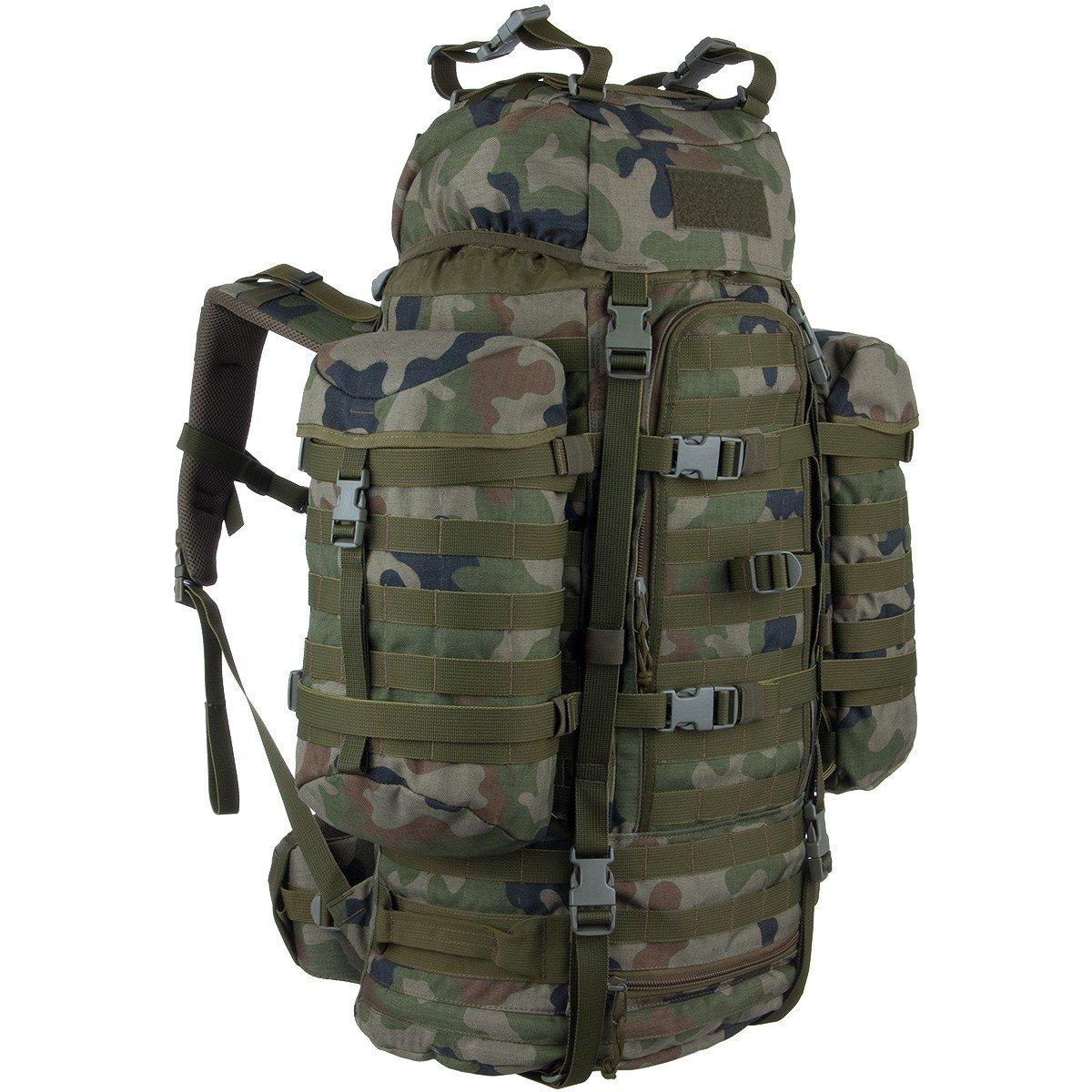 W!SPORT® WILDCAT Rucksack (65 Liter Militär Cordura Marschrucksack Outdoor Camping)
