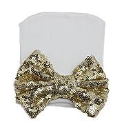Multifit Infant Cute Bling Sequin Bowknot Nursery Hat Newborn Hospital Beanie Hat(Gold Bow)