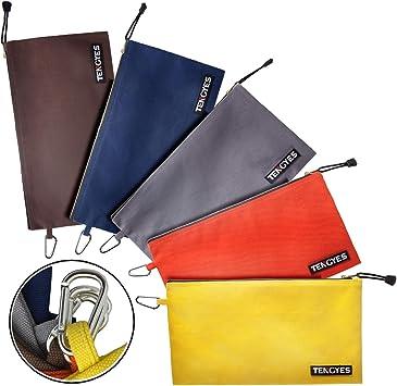 2 Brand New Small Brown Diamond Vinyl Leather Like Bank Deposit Money Bag