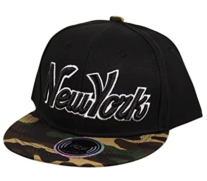 Itzu Kids Snapback Baseball Cap Hat New York NY (Boys Girls) Youth Black de0b501075b