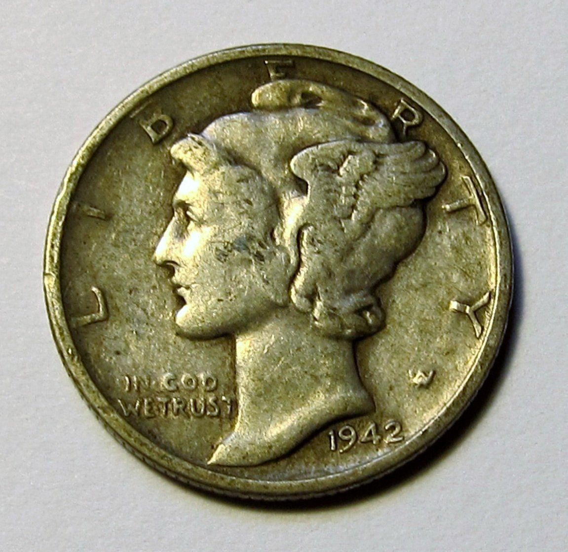 1916 1945 90% Silver Mercury Dimes Circulated (Mixed Dates and Mint Marks) .10c Dime Circulated