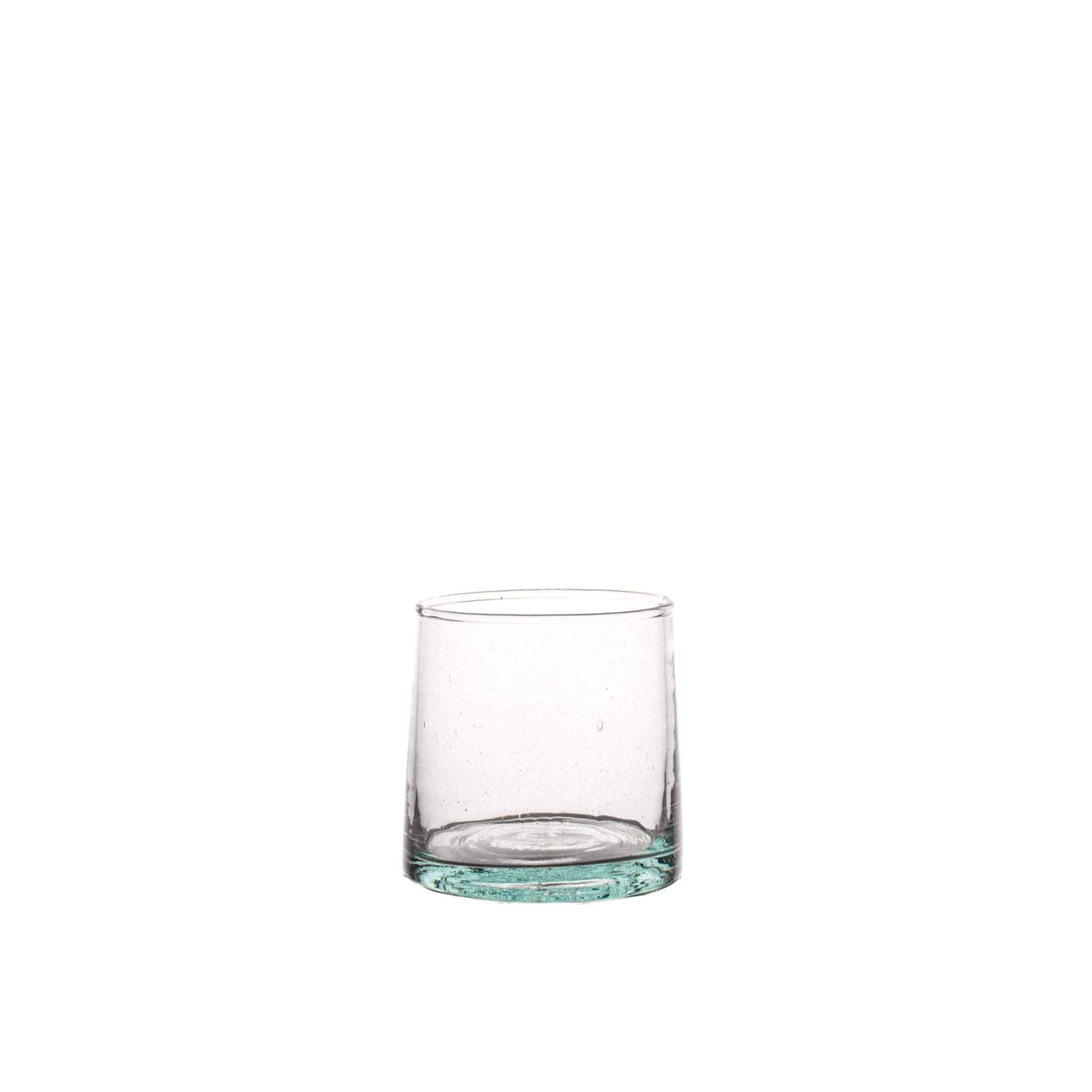 Canvas Home Ltd G12-CNL-SM Canvas Home Moroccan Conical Glass, Small, Tinted Green-Pack of 6