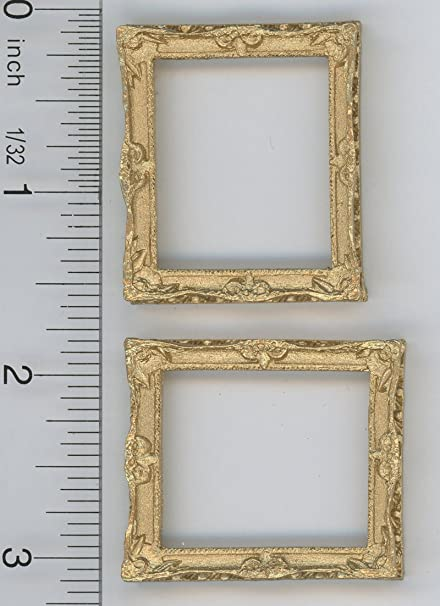 Dollhouse Miniature Ornate Gold Frame by Falcon Miniatures