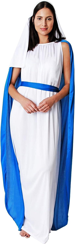 Costumizate! Disfraz de Virgen Maria para Mujer Adulta Talla Unica ...
