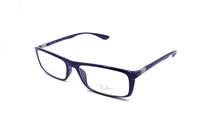 b016e5f334 Image Unavailable. Image not available for. Colour  Ray-ban Rx Eyeglasses  Frames Rb 7035 5431 57x17 Shiny Blue Liteforce