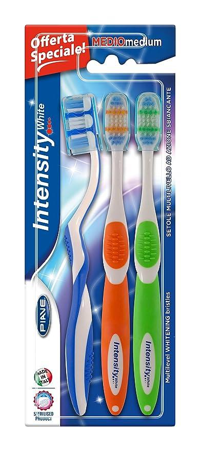 Intensidad blanco cepillo de dientes SilverCare Juego de 3 piezas (x1)