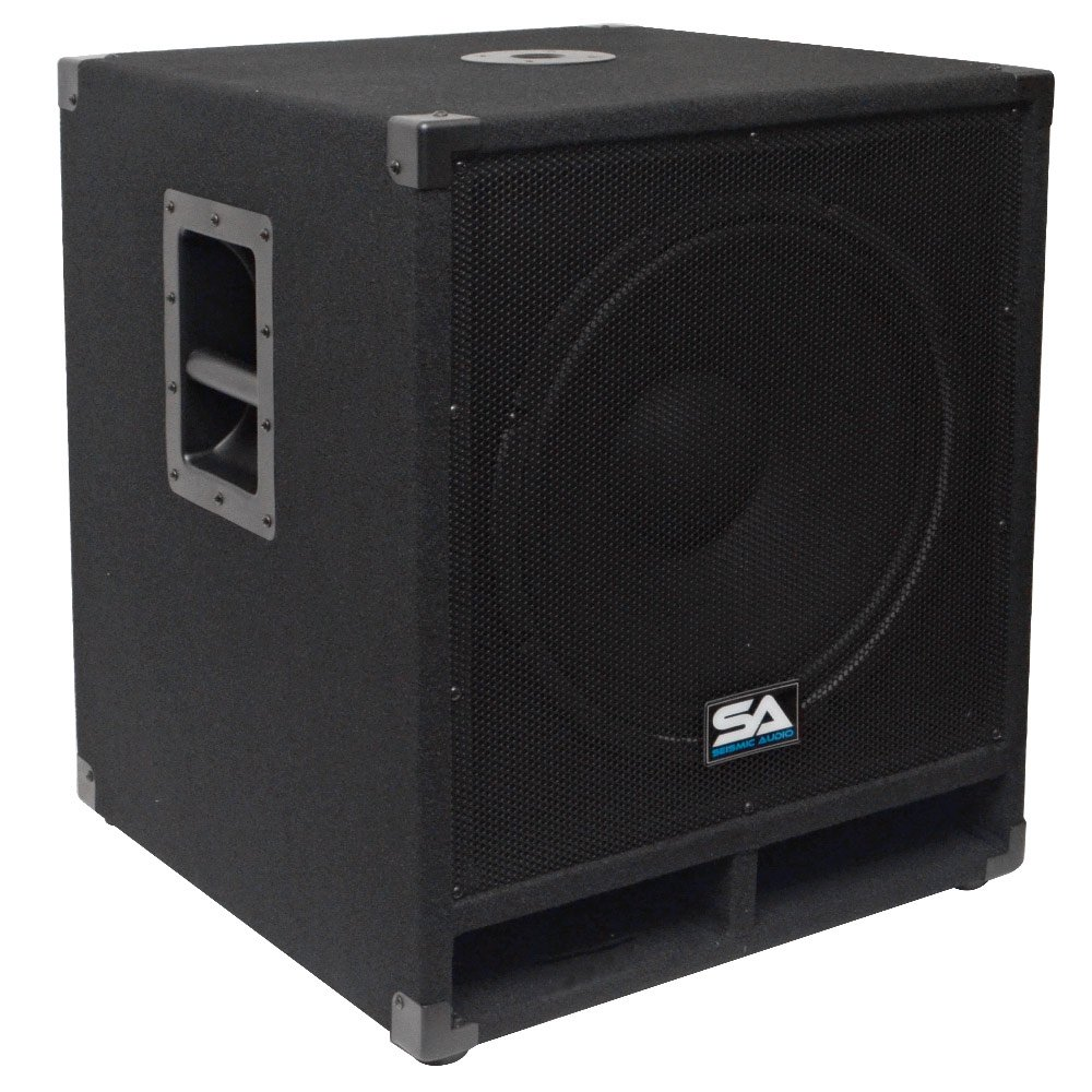 Seismic Audio - Baby-Tremor - 15'' Pro Audio Subwoofer Cabinet - 300 Watts RMS - PA/DJ Stage, Studio, Live Sound Subwoofer