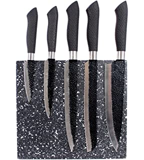 gourmet stainless steel santoku chef knife set 5 piece with magnetic knife block - Chef Knives Set