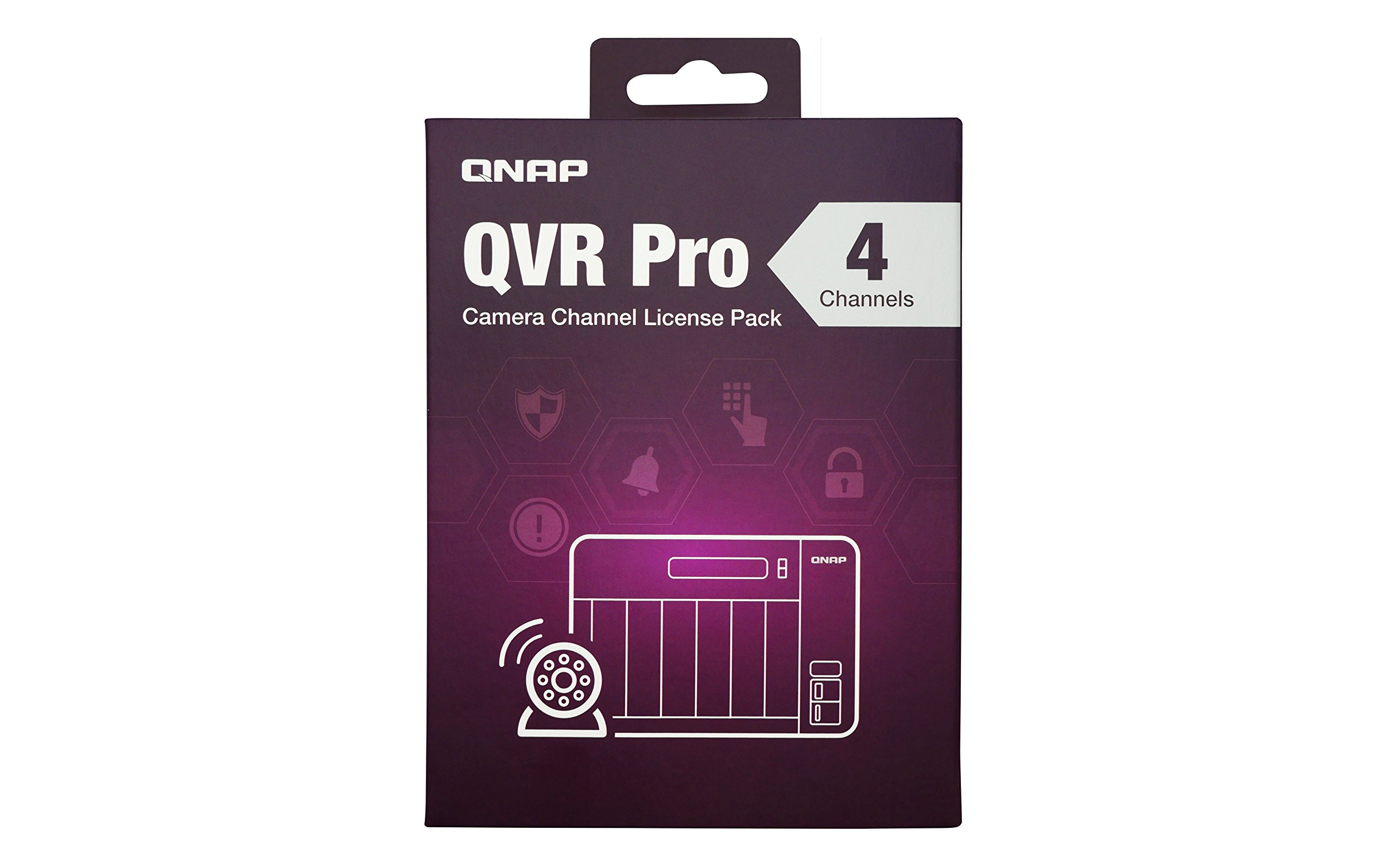 QNAP LIC-SW-QVRPRO-4CH 4 Channel license (QVR Pro Gold is required) 1 Additional 1, 4, or 8 channel(s) for QVR Pro The 1, 4, and 8 channel license can only be activated if the Turbo NAS already has a QVR Pro Gold license. Supported Models: For the best user experience, we recommend using 64-bit x86 NAS models with at least 4GB RAM
