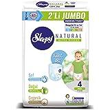Sleepy Natural 2'li Jumbo Külot Bez, 4 Beden, Maxi, 60 Adet