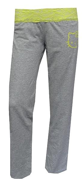 28be50ab6 Amazon.com: Hello Kitty Women's Neon Lace Gray Lounge Pants: Clothing