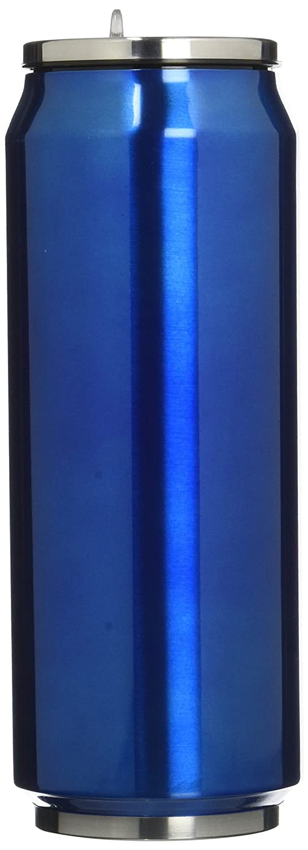 Yoko Design 1348 Canette Isotherme Double Paroi Acier Inoxydable Rose 7 cm 500 ml