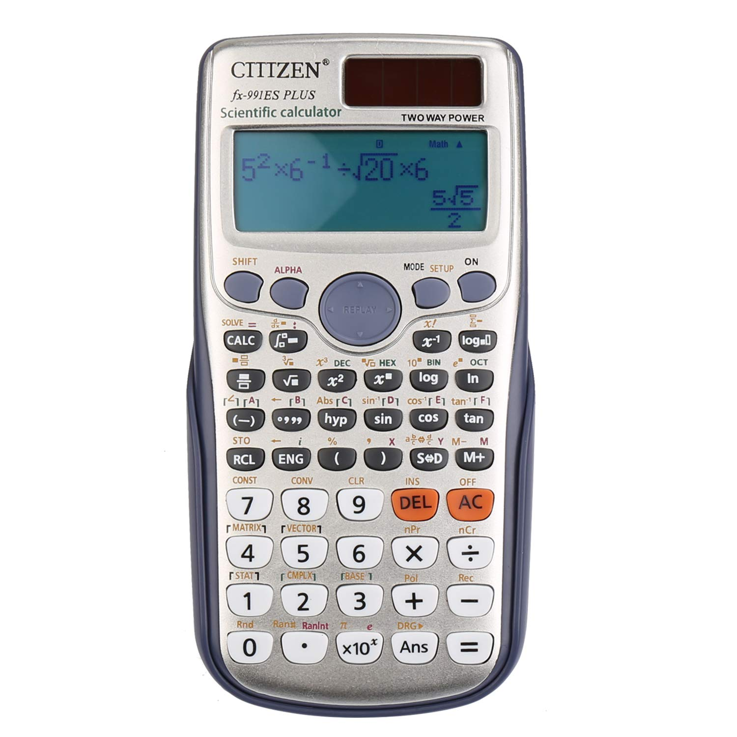 DricRoda Scientific Calculator, Function Calculator Engineering Calculator High School Calculator with Solar Power & Large LCD Display for College, University, Office, Home and Business by DricRoda