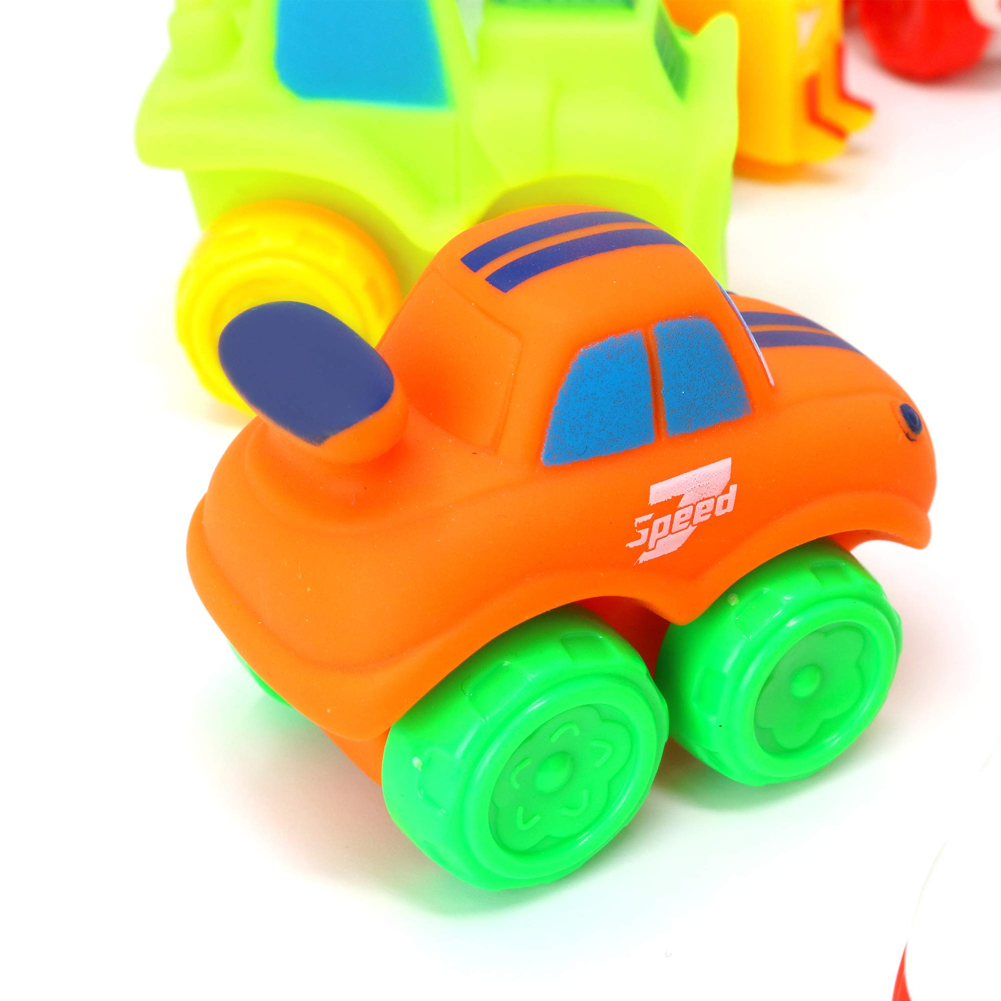 Big Mo's Toys Baby Cars - Soft Rubber Toy Vehicles for Babies and Toddlers - 12 Pieces by Big Mo's Toys (Image #6)