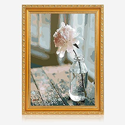 Amazoncom Ustarail 16 X 20 Paint By Numbers Diy Painting Flower
