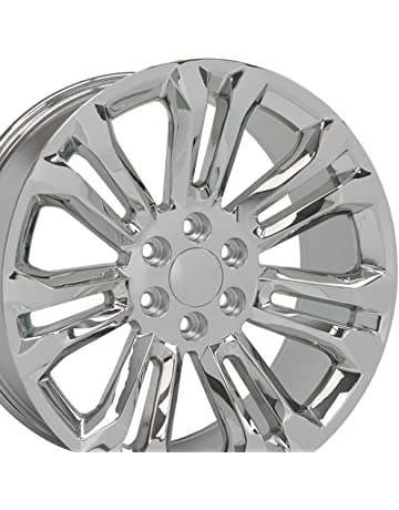 amazon truck suv wheels automotive street off road 2010 Chevy Avalanche Bed-Size oe wheels 22 inch fits chevy silverado tahoe gmc sierra yukon cadillac escalade cv43 chrome 22x9