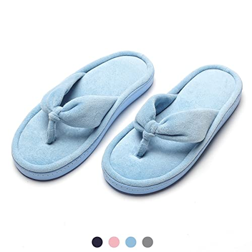d015e3eb766caa INFLATION Women s Spa Thong Flip Flops Lady Velvet Memory Foam Slip On  House Slippers Cozy Non