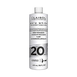 Clairol Professional Pure White 20vol Crème Developer, 16 Fl Oz
