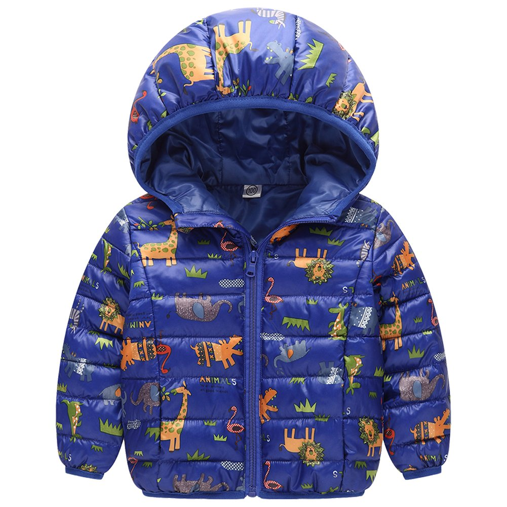 Down Cotton Jacket Boys/Girls Camouflage - LSERVER Winter Printing Kids Girl/Boy Hooded Short Outerwear Coat