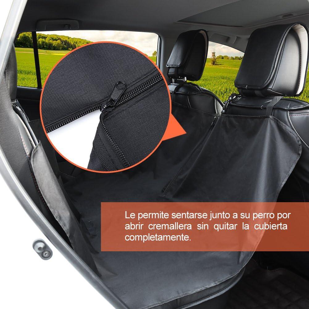 GHB Cubierta Universal Protector Impermeable de Tapicería de Coche para Perros Mascotas y Viajes con Hebilla de Seguridad: Amazon.es: Coche y moto
