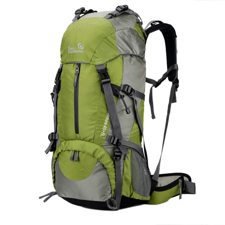 YOZOOE 50L Multi-Function Outdoor Mountaineering,Mountaineering Backpack Bag Travel Nylon Waterproof Walking Bag Shoulder Sports Backpack (Capacity : 50L, Color : Green) by YOZOOE