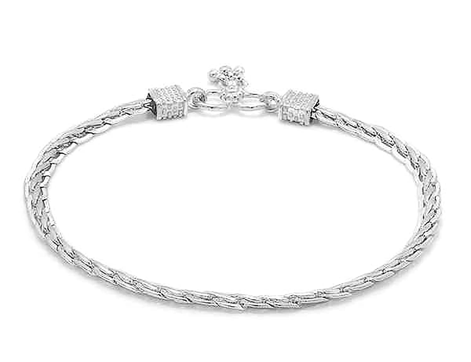 Women D/&D Crafts Sterling Silver Link Anklets For Girls