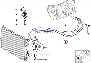 Amazon.com: BMW Genuine Radiator Automatic Gearbox Oil Cooling Pipe Outlet  A5S 360R 323Ci 323i 325Ci 325i 328Ci 328i 330Ci 330i: AutomotiveAmazon.com