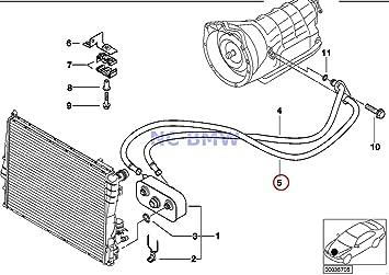 BMW auténtica Radiador caja de cambios automática Tubo de enfriamiento de aceite outlet A5S 360r 323 Ci 323i 325 Ci 325i 328 Ci 328i 330 Ci 330i: Amazon.es: ...