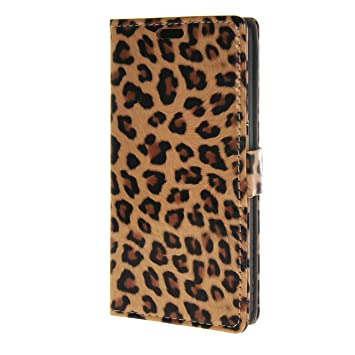 EVERGREENBUYING Huawei Y635 ,Leopard Style Flip Funda ...