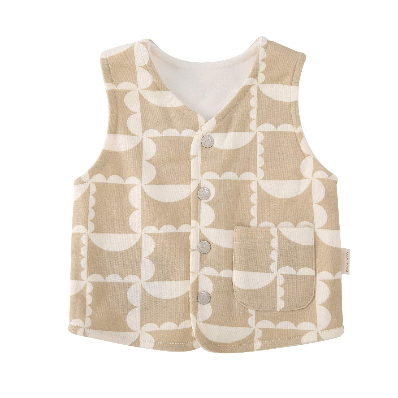 pureborn Baby Warm Jacket Cotton Vest Autumn and Winter Children Waistcoat 0-3 Years
