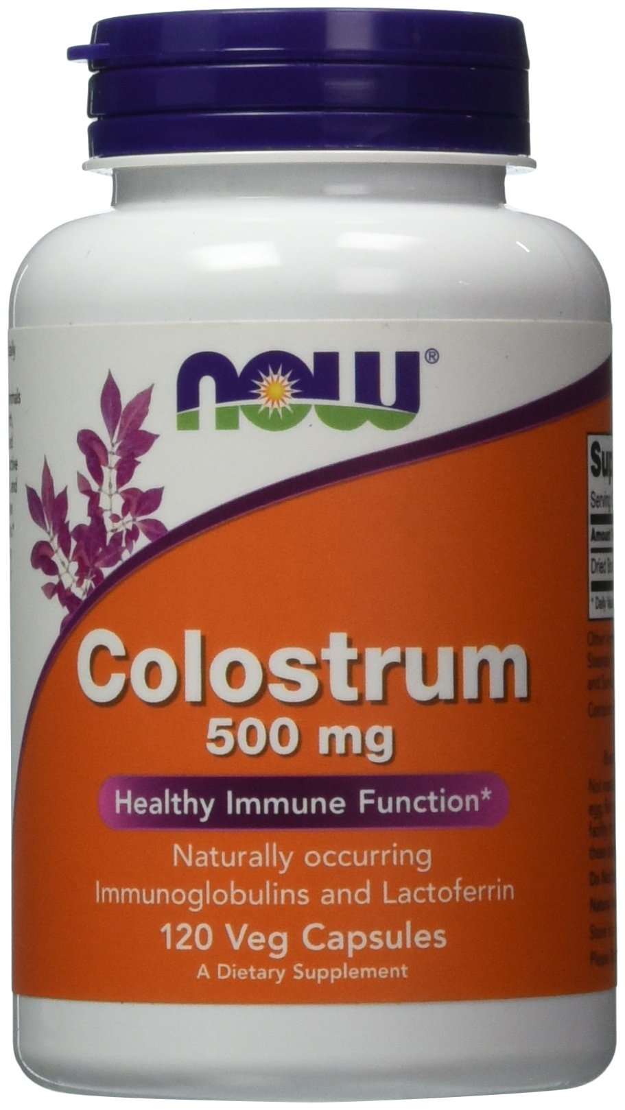 NOW Colostrum 500 mg,120 Veg Capsules