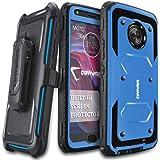 Moto X4 Case, COVRWARE [Aegis Series] w/ Built-in [Screen Protector] Heavy Duty Full-Body Rugged Holster Armor Case [Belt Swivel Clip][Kickstand] For Motorola Moto X4 (2017), Blue